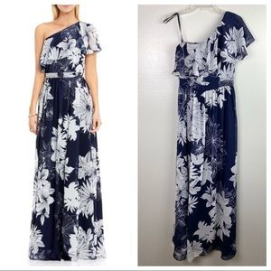 Vince Camuto | Floral One Shoulder Maxi Dress 4